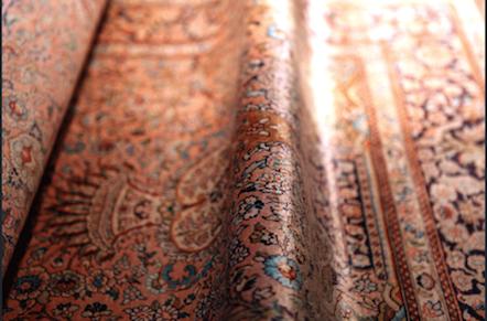 el yapımı ipek halılar